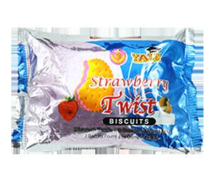 Twist Strawberry Cream Biscuit